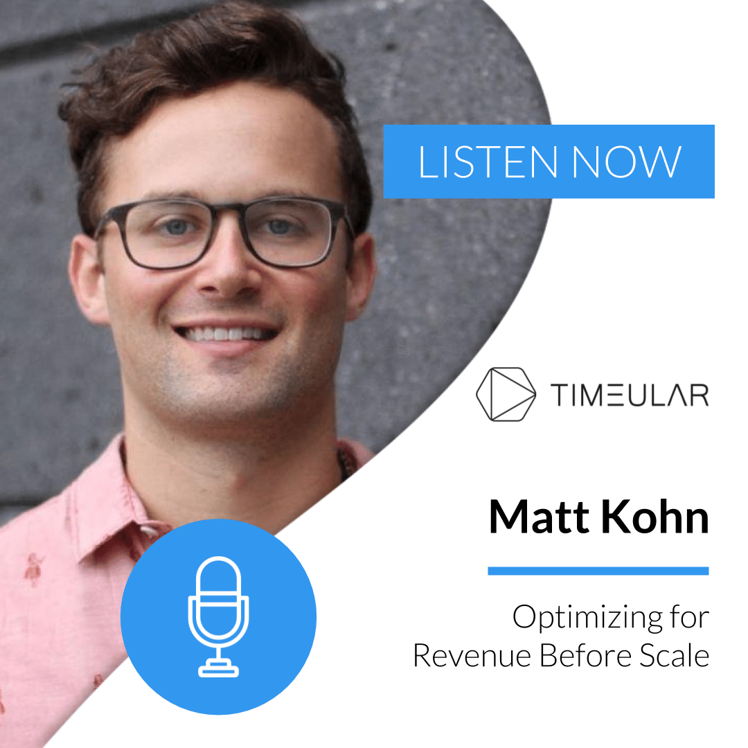 Timeular Productivity Masterminds-podcast Matt Kohn