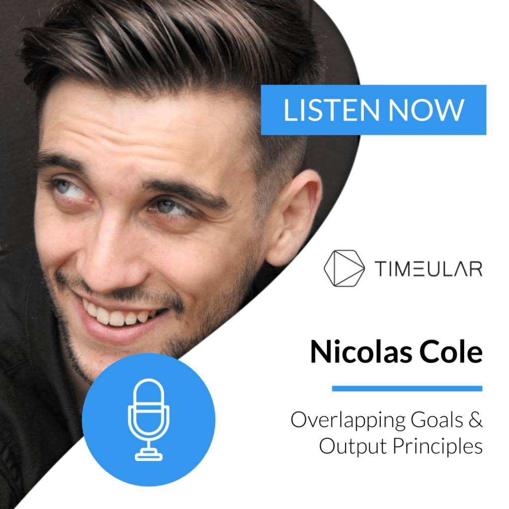 Timeular Productivity Masterminds_podcast Nicolas Cole