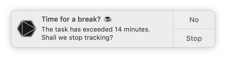 Time for a break notification