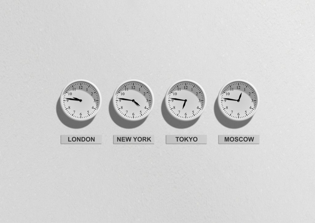 clocks from different countries