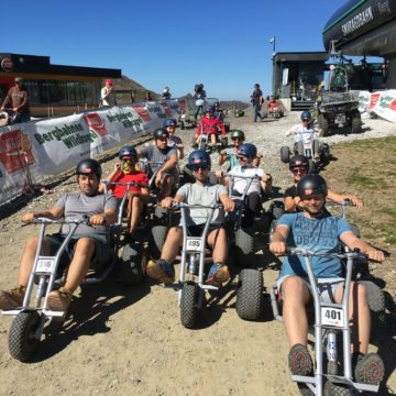 Timeular team on mountain cars at retreat in Austria