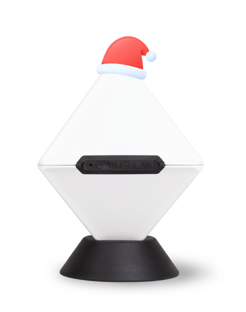 Timeular Tracker with Christmas hat