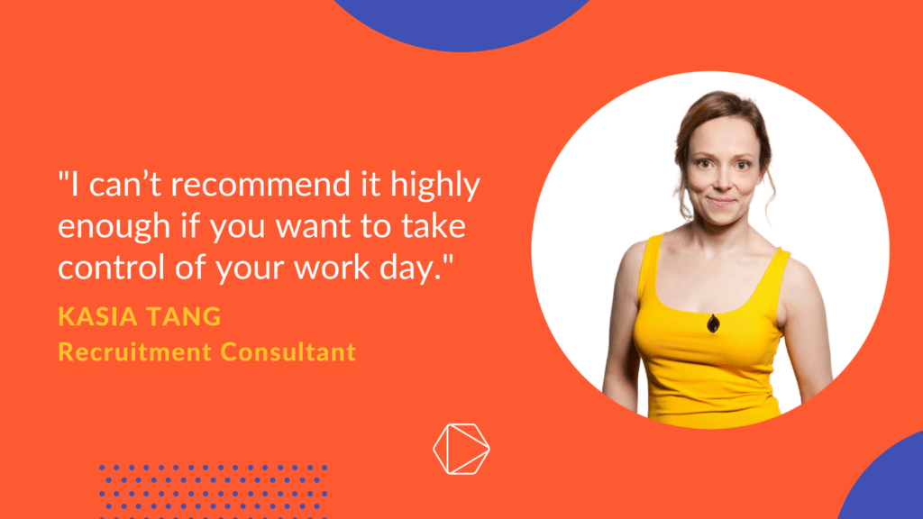 Kasia testimonial for Timeular and how it gave her a productivity boost
